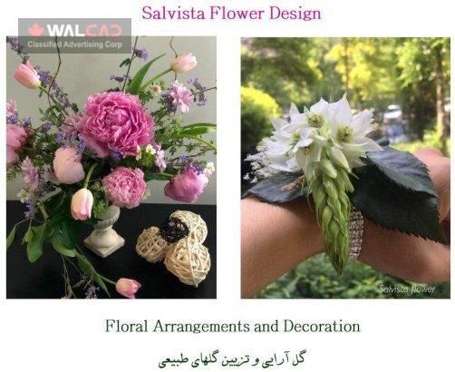 گل آرایی و تزیین گل های طبیعی