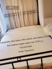 تخت دبل سایز به همراه پرده ها و ماترس