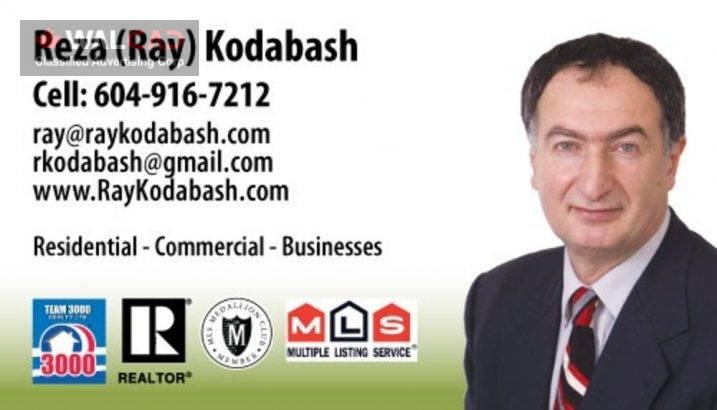 مشاور املاک Ray (Reza) Kodabash در  Burnaby